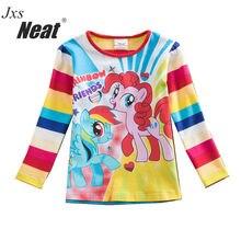 NEAT 2017 cute girl autumn casual long-sleeved T-shirt pattern children's clothing 100% cotton fashion T-shirt LPD1128