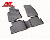 Floor mats for Mitsubishi Pajero III 5D 1999 2006 4 pcs rubber rugs non slip rubber interior car styling accessories