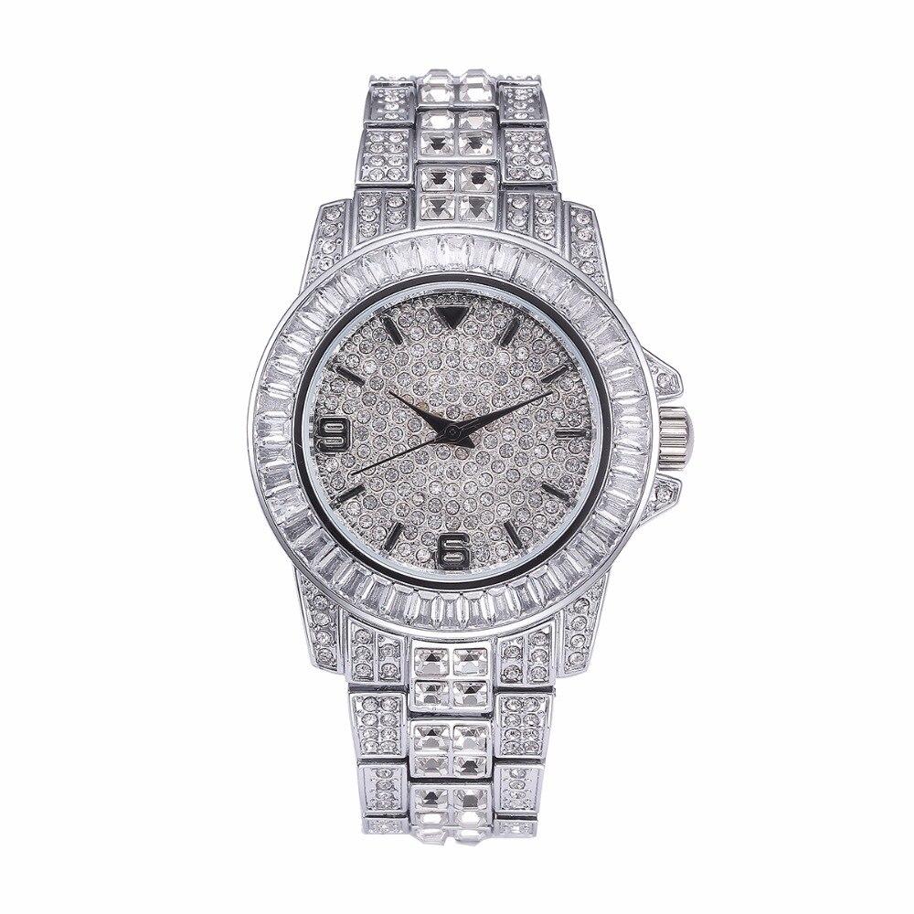 2ab4b564598 Papel Relógios Rolexable Missfox Dos Homens Top Marca de Luxo Relógio À Prova  D  Água Masculino Relógio Hublo Completa Diamante Unisex Relógio De Quartzo  ...