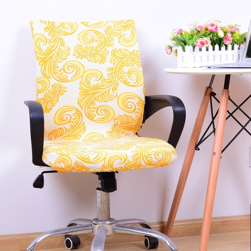 Swivel Chair Covers Pink Cover Decorations Elastic Spandex Office Slipcover Armrest Seat Home Wedding Decoration Antimacassar S M L In From