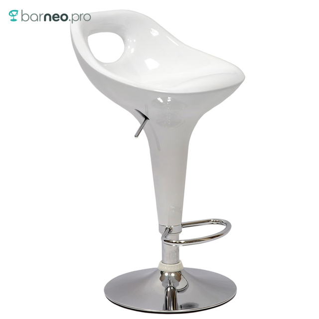 94772 Barneo N 7 Plastic High Kitchen Breakfast Bar Stool Swivel Chair White Free