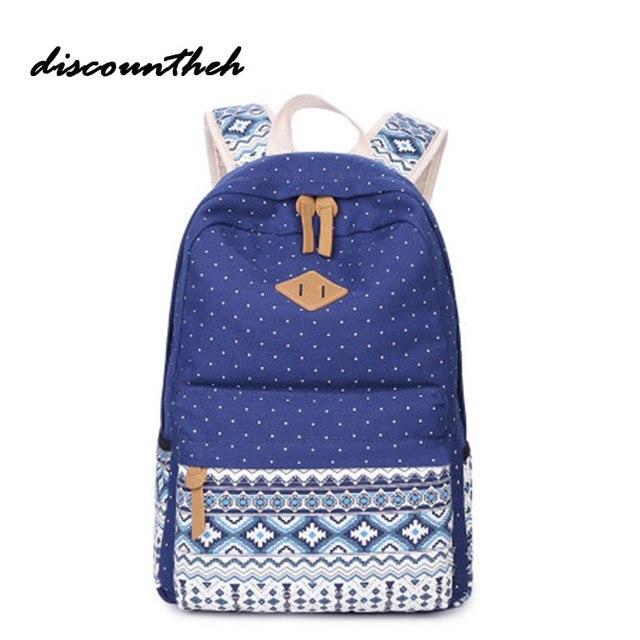 3b03a18bd80c ... Fashion Canvas Printing Backpack Women Cute School Backpacks For Teenage  Girls Vintage Laptop Bag Bagpack Female ...