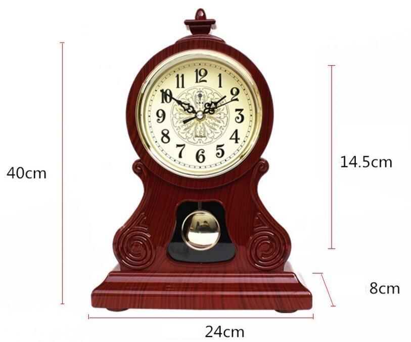 Ora e Tabelës Orë Vintage Klasike Klasike, Salla e Uljes TV Kabinet - Dekor në shtëpi - Foto 6