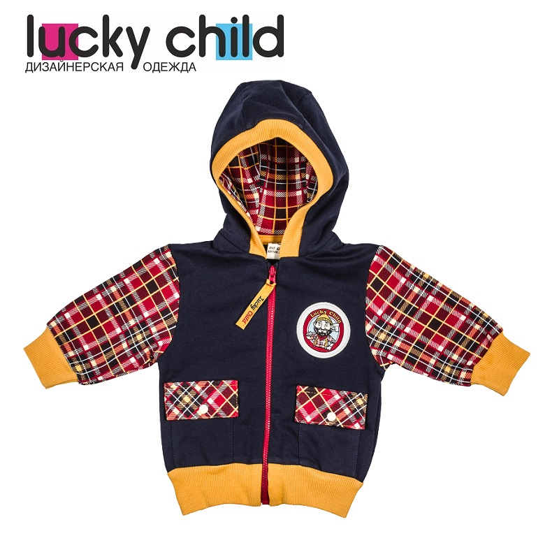 Sweater & Sweatshirts Lucky Child for boys 27-17f  Kids Sweatshirt Baby clothing  Children clothes Jersey Blouse Hoodies