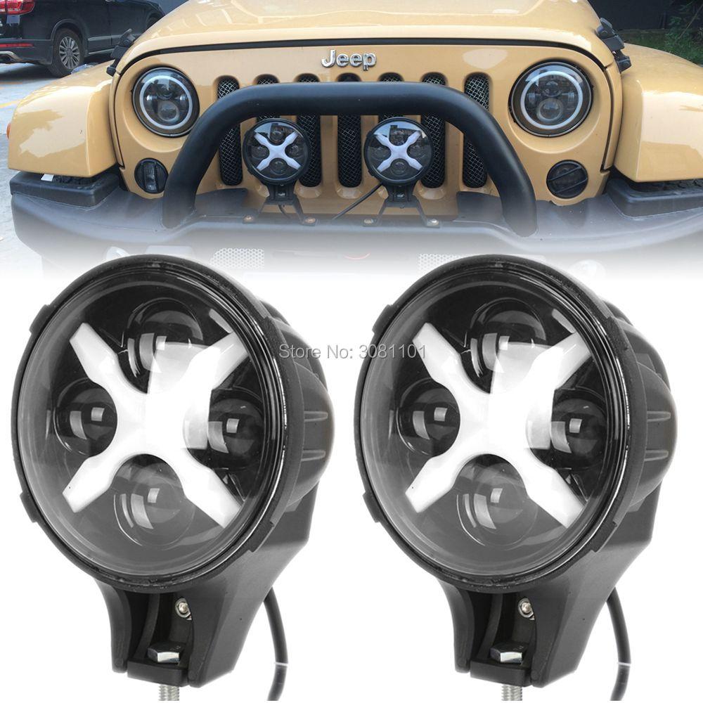 Pair 6 INCH 60W  Auxiliary Light for jeep Diecast aluminum DRL Color for 1997-2006 Jeep Wrangler TJ/2003-2009 Hummer H1&H2 etc. набор автомобильных экранов trokot для ваз 2112 3d 1997 2009 на передние двери