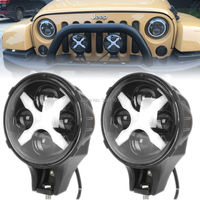 60W Diecast Aluminum PC Lens DRL Color Auxiliary Light For Jeep