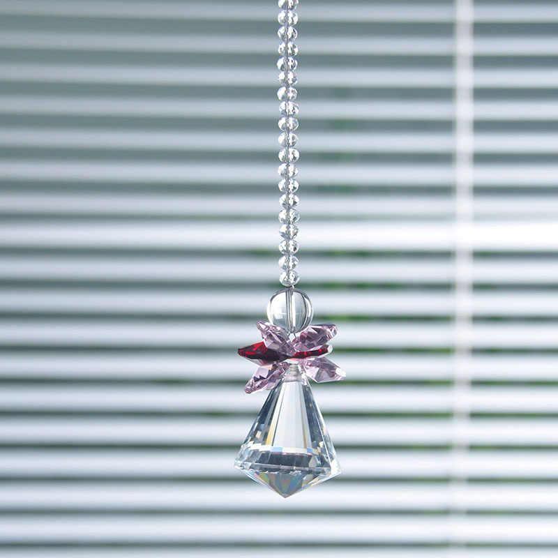 H & D Kristal Liontin Kaca Sudut Jendela Menggantung Prism Suncatcher untuk Indah Pohon Natal Dekorasi Taman Rumah