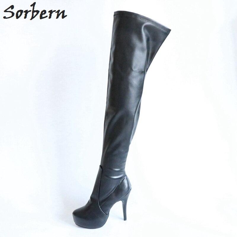 aecff4787ea0 Sorbern 15Cm High Heel Boots Ladies Over The Knee Platform Woman Shoes  Boots High Heels Mid