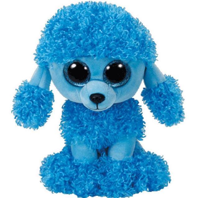 6 Ty Beanie Boo S Mandy The Blue Poodle Puppy Dog 15cm Big Eye