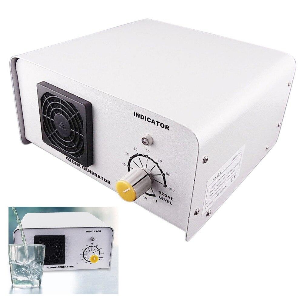 Ozone Generator 1250mg/h Water Tank Purifier 110 240V Corona Discharge (Ozone Tube) Generating Method Industrial Ozonizer