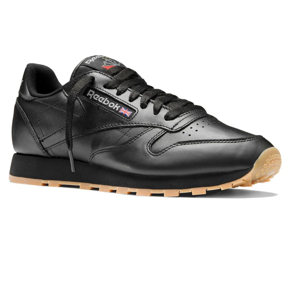 49800 black Reebok Classic Leather MAN-in Tennis Shoes