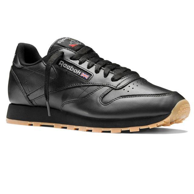 Classic Hombre Reebok Sneakers Zapatillas Negro Leather En 49800 qUAwHt