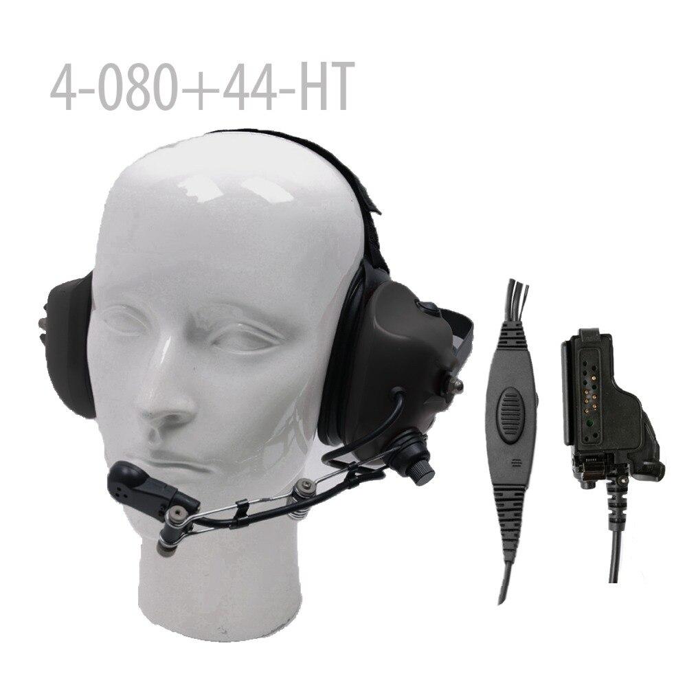Casque anti-bruit robuste + Mini prise Din 44-HT pour HT-1000 HT-2000 et 8000/9000 radios portables GP900 GP1200 MTX838Casque anti-bruit robuste + Mini prise Din 44-HT pour HT-1000 HT-2000 et 8000/9000 radios portables GP900 GP1200 MTX838