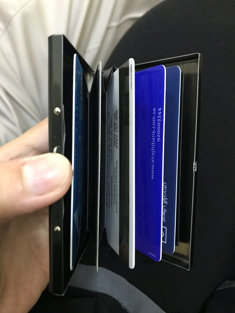 High QualitId Men's Wallets Credit card holder Automatic card sets business stainless steel wallet card sets cash clip holder photo review