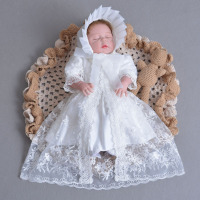 Summer Lace Baby Girls Dress Newborn Baby Dress Kids Infant Clothes Baby Girls Embroidery Outerwear Princess Dress