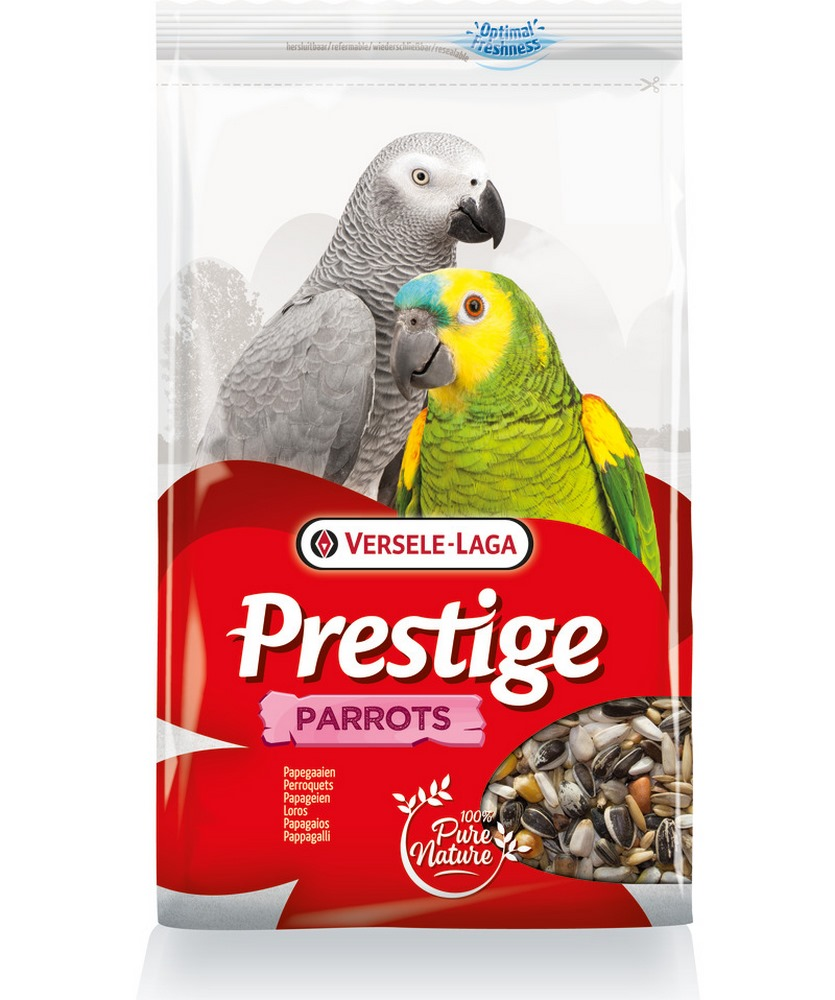 Birds food VERSELE-LAGA feed for large parrots Prestige Parrots 3kg free shipping 12 pieces set birds toy model dove parrots toucan seagull crane eagle egret plastic flying animals mini figures