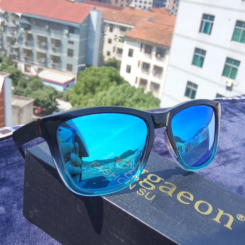 lvvkee Top quality Gradient Frame Sunglasses Polarized Men Women Driving Sports Glasses Oculos De Sol green red blue Color Lens