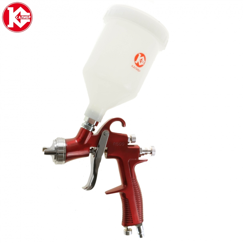 цена на Pneumatic air spray gun Kalibr PROFI KRP-1,5/0,6VB, Nozzle diametr 1.5 mm, Volium of cup 0.6L