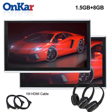 ONKAR Android headrest monitor with 11.6 inch 2.5D IPS touch screen 1920*1080 HD 1080P support mirror link wifi FM radio SD HDMI 10 1 inch android 7 0 car headrest monitor 1920 1080 hd ips touch screen 4g wifi usb sd hdmi ir fm front rear camera games app