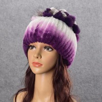 Youe Shone Hat For Women 100 Real Rex Rabbit Fox Fur Hat Rex Rabbit Fur Caps