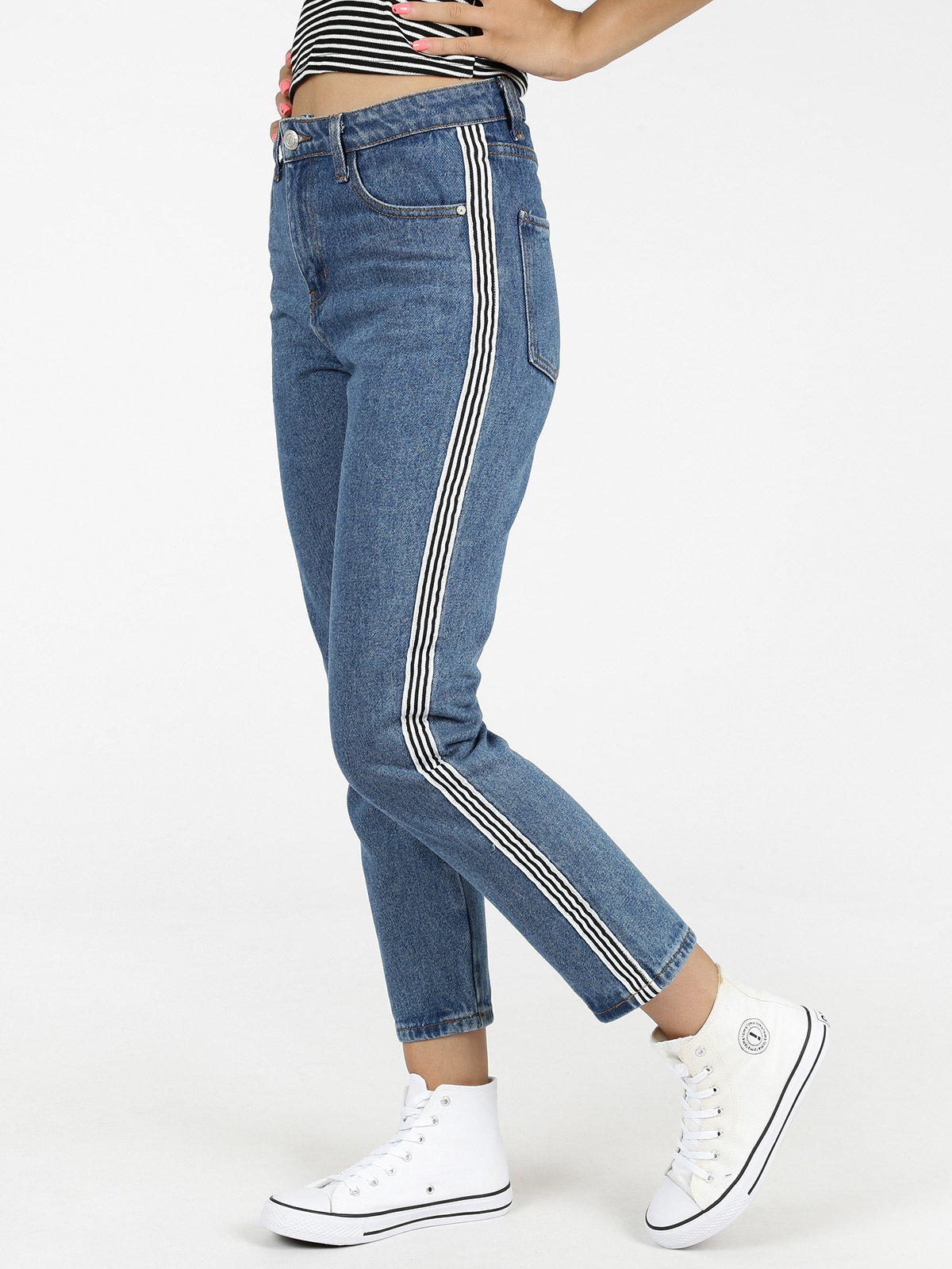Boyfriend Jeans With Bands