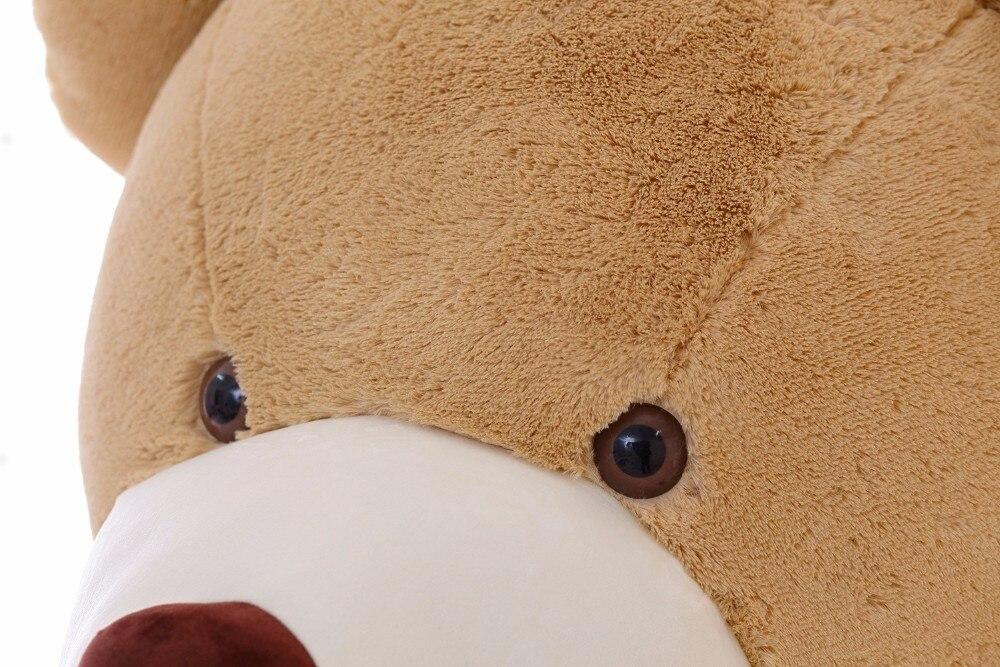 Дешевые 10 шт./лот 260 см Огромный большой UNSTUFFED животных Детские Мишка Обложка плюшевые мягкие игрушки наволочка (без вещи) рождественский под...