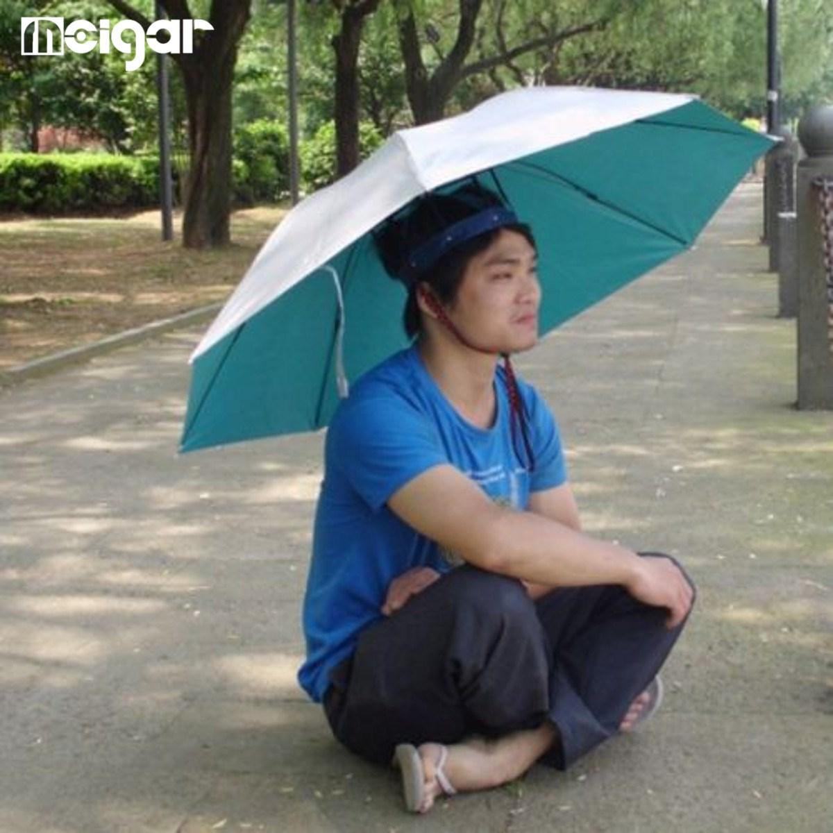 5024ada54dfa2 Large Fishing Hunting Umbrella Unisex Umbrella Hat Paras UV Proof Bumber  Paraguas Outdoors Rain Gear Sun Protection