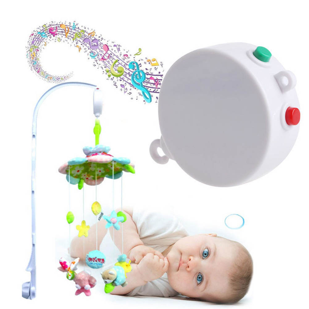 Music Develop Toys 35 Songs Baby Mobile Crib Bed Bell Kid Toy Electric Autorotation Music Box White Love Autorotation ...