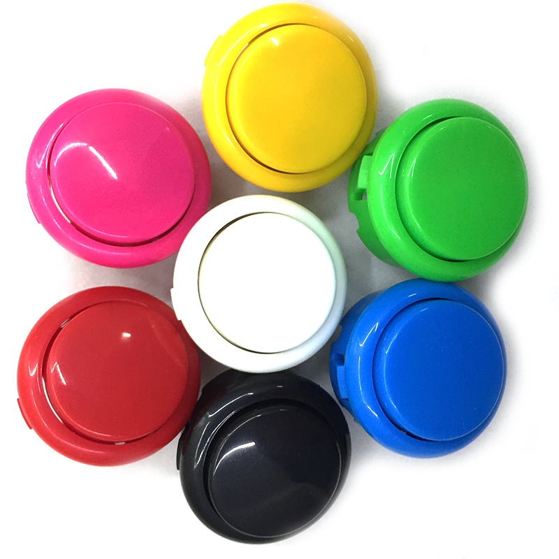 Free shipping 100pcs OEM 30mm push button copy sanwa push button DIY Arcade fighting game kit