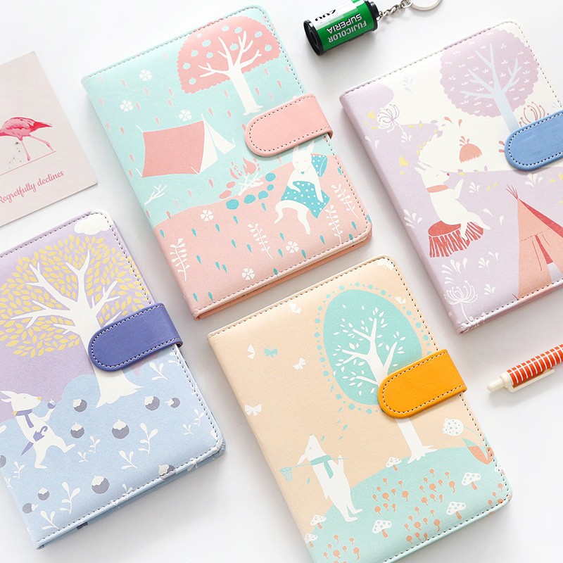 2017-2018 Cute Kawaii Notebook Cartoon Molang Diary Journal Planner Notepad for Gift Korean Stationery Colorful Inner cartoon dog suede notebook creative cute animal diary notebooks school supplies stationery kawaii planner notepad fine gift
