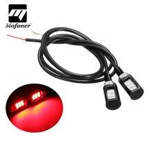 Mofaner 1 пара 3 светодиодный светильник для номерного знака мотоцикла, номерного знака, задний хвостовой винт, болт, светильник, лампа SMD