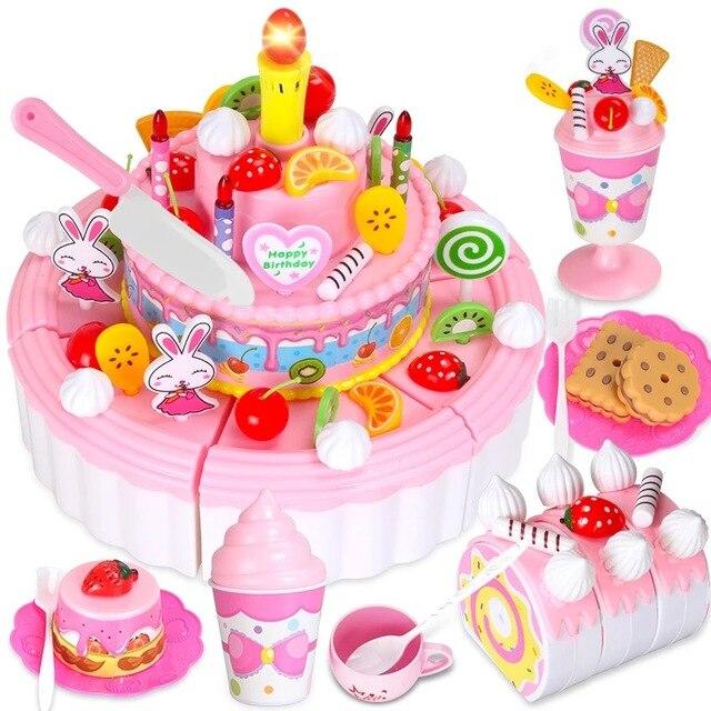 Games For Girls Kids Kitchen Toys For Children Diy Cake Toy Food