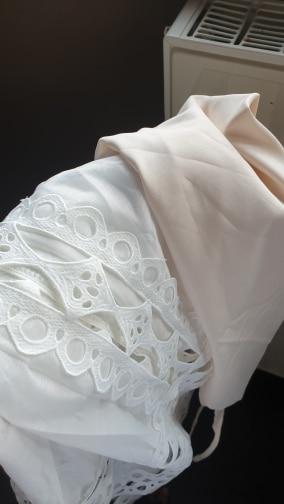 Elegant Hollow Out Women'S Dresses Stand Collar Lantern Long Sleeve Patchwork Lace Mini Dress Fashion Autumn photo review