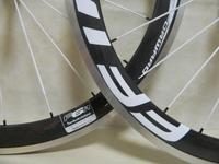 23mm 50mm depth carbon wheels 700c clincher Alloy brake surface with Aero spokes 60mm Carbon wheels