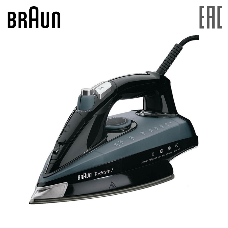 Iron BRAUN TS745A steam for ironing irons steam Household for Clothes Selfcleaning Burst of Steam TS 745 A electriciron радио часы ritmix rrc 818 black