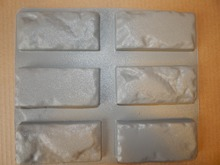 """6 pçs novos moldes de plástico para gesso de concreto super melhor preço parede de pedra telhas de cimento """"tijolo velho"""" parede decorativa moldes novo design"""