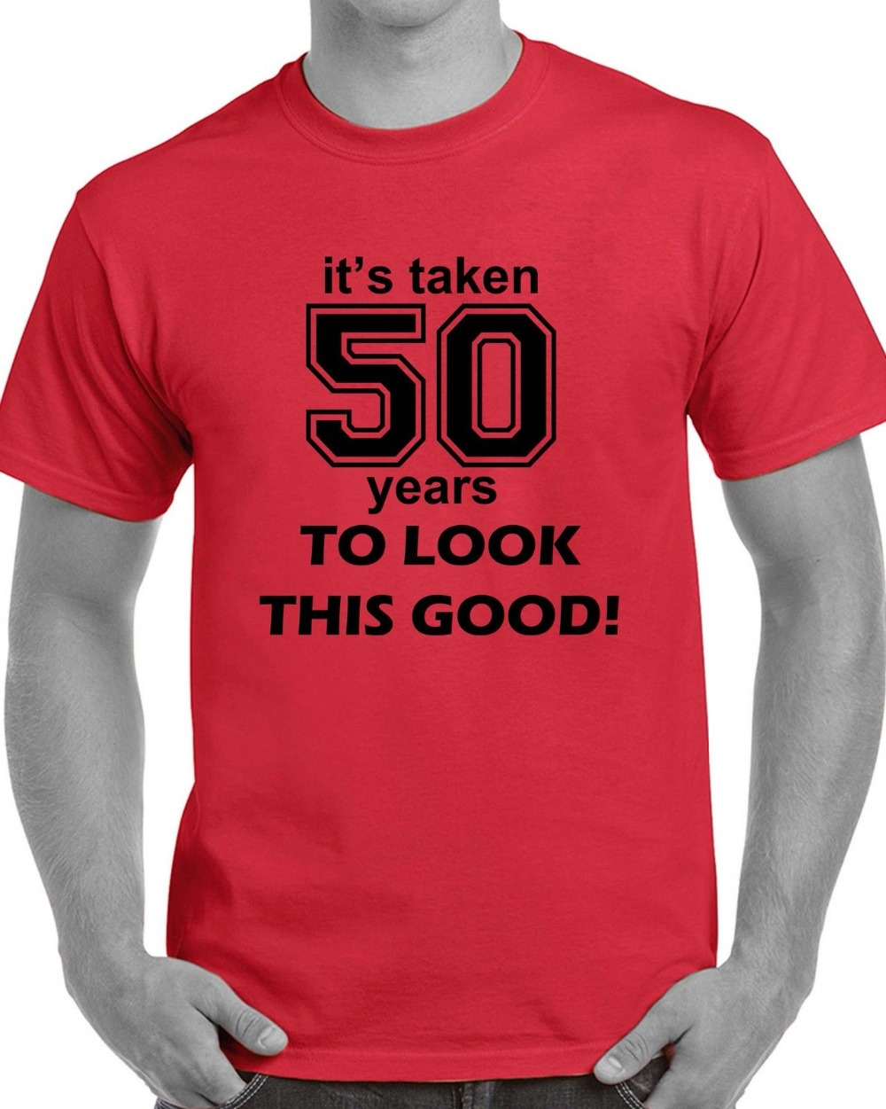 Tops Casuals Shirts Mens 50Th Birthday Party T Shirt Clothing Celebrations Gift Fiftyhip Hop In From On