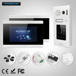 """HOMSECUR 7 """"Проводной Видеодомофон Система + серебряная Камера с паролями и ID доступом для Дома/Квартиры"""
