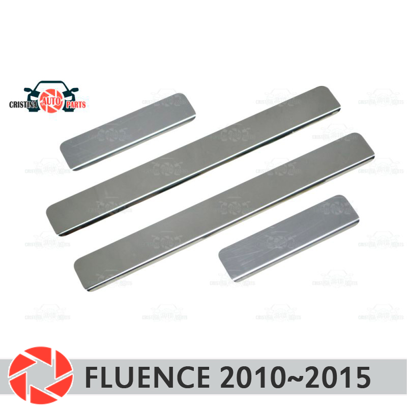 цена на Door sills for Renault Fluence 2010~2015 step plate inner trim accessories protection scuff car styling decoration