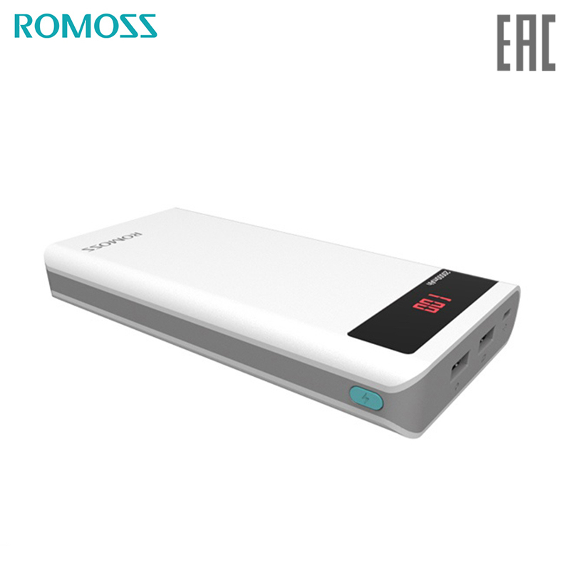 Power bank Romoss Sense 6P 20000 mAh solar power bank externa bateria portable charger for phone original romoss polymos05 5000mah dual usb li polymer power bank