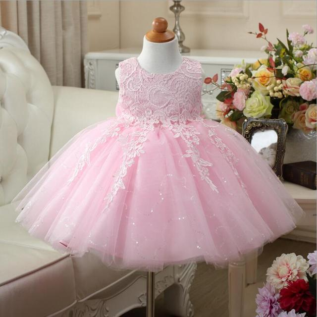 6M 2 Year Old Baby Birthday Dress Wedding And Party Dresses Lace With Sequins Cute Fashionable