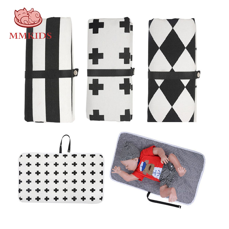 Foldable Baby Changing Mat Portable Nappy Changing Mat Diaper Pad for Travel LC