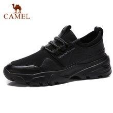 캐멀 남자 신발 봄 정품 가죽 캐주얼 패션 레이스 업 블랙 남자 신발 쇠가죽 채찍으로 치다 moccasins 남성 신발
