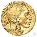 2011 Вольфрамовая монета с покрытием из 1,5 граммов. 999 чистого золота Бизон 1 сувенирная монета. В origanl чехол