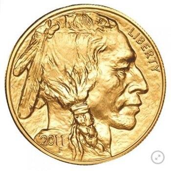 2011 텅스텐 코인 도금 1.5 그램. 999 파인 골드 아메리칸 버팔로 1 트로이 오즈. 오리간 케이스
