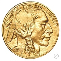 2011 tungsten coin plated 1.5 grams .999 fine gold American Buffalo 1 troy Oz. in origanl case