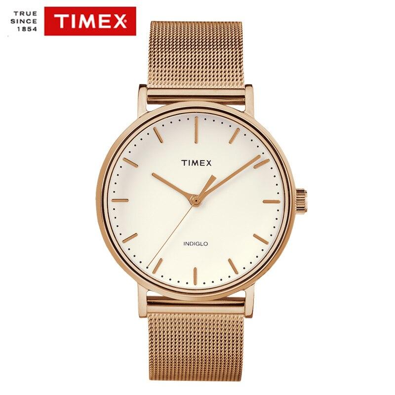 Timex Original Mens Watches The Fairfield TW2R264 Stainless Steel Rose Gold Simple Watch Quartz DW Style Men Women Watches