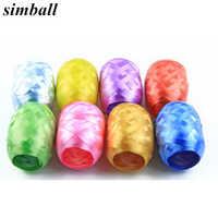 Lote de 6 unidades de cinta de aluminio para globos, suministros de decoración para fiesta de cumpleaños, accesorios para globos, venta al por mayor