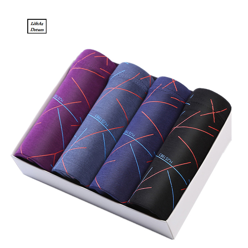 2017 Brand Clothing Mens Underwear Boxer bamboo fiber Casual Male Mens Short Masculina De Marca Man Underpants line Underwear