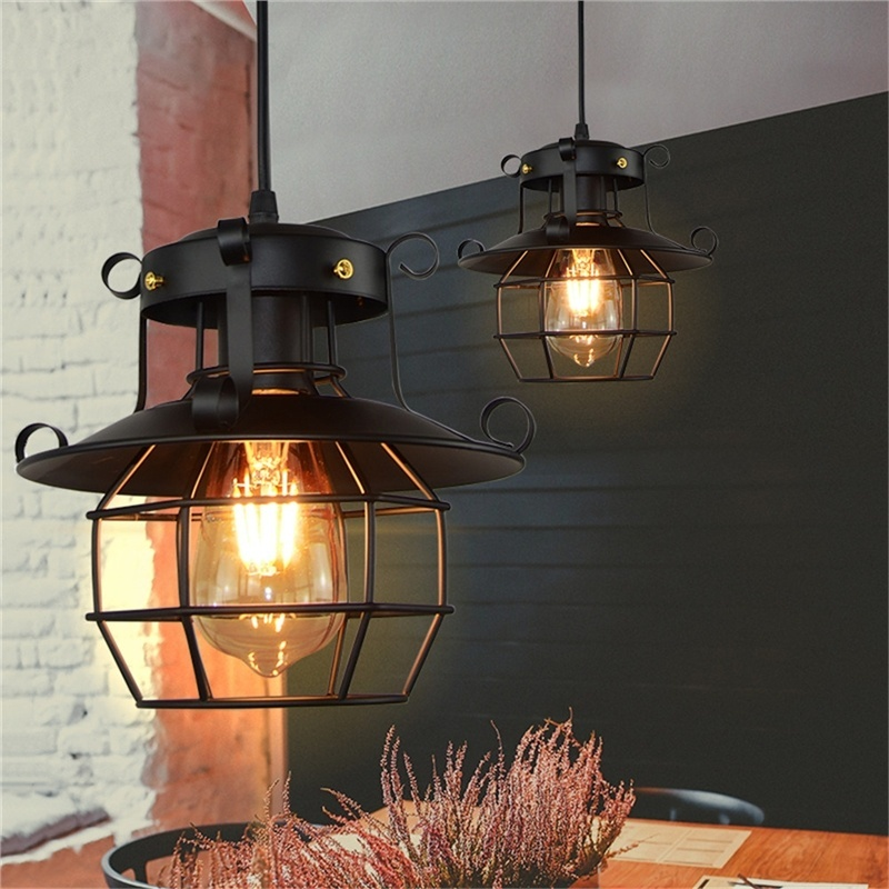 Retro Vintage Industrial Chandelier Lampshade Antique Ceiling Lamp For Home Cafe (Without Bulb)